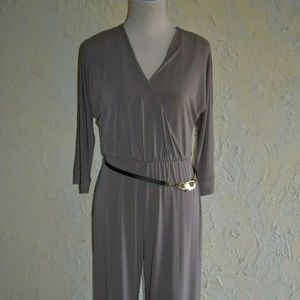 CALVIN KLEIN Ladies Steel Gray Long Sleve Jumpsuit